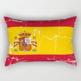Spain flag with grunge effect Rectangular Pillow