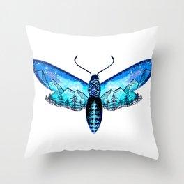 Mountain Moth Throw Pillow