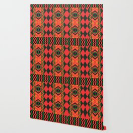 Neon tribal art Wallpaper