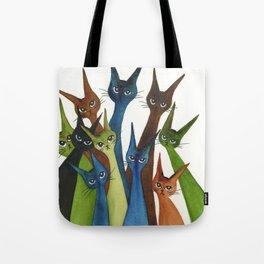 Cordoba Whimsical Cats Tote Bag