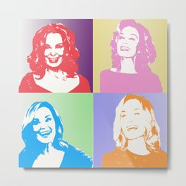 Jessica Lange - Her smile is everything Metal Print