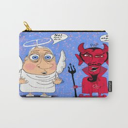 Angel on one shoulder, Devil on the other Carry-All Pouch
