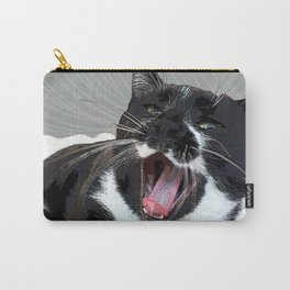 A yawn Cat.    cats, cat, yawn, pattern, pet, feline, animals, Society6. Carry-All Pouch