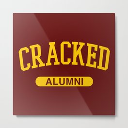 Cracked Alumni Metal Print