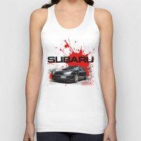 subaru Tank Tops featuring Cars: Subaru WRX STI by Urbex :: Siam