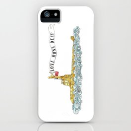 Love Runs Deep - Submarine Art iPhone Case