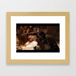Victory is achieved throught mettle...  Framed Art Print