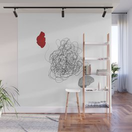Heart and Mind tug-of-war Wall Mural