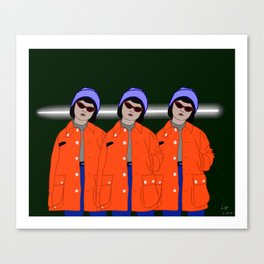 Triple Threat Canvas Print
