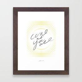 JOHN 6:37 Framed Art Print