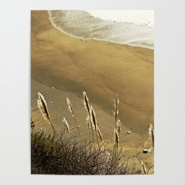 Abstract Lines In The Sand Poster