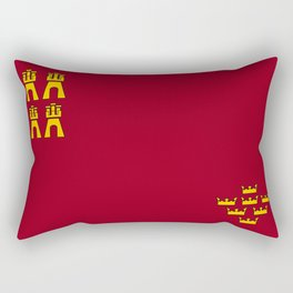 Murcia region flag spain province Rectangular Pillow