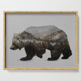 The Kodiak Brown Bear Serving Tray