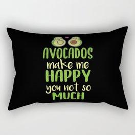 Avocado Saying Cute Rectangular Pillow