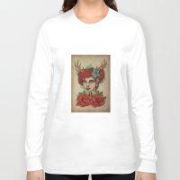 antler Long Sleeve T-shirts featuring Antler Girl by Tarren Malham