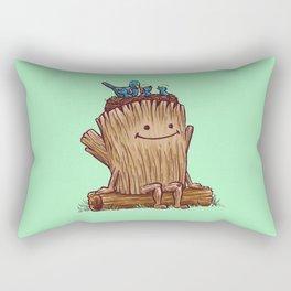 Good Day Log's Bird Nest Rectangular Pillow
