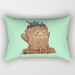 Good Day Log's Bird Nest Rectangular Pillow