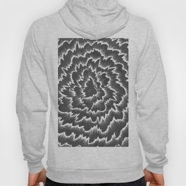 Foral waves in black and white Hoody