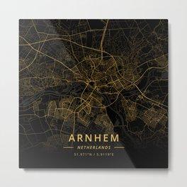 Arnhem, Netherlands - Gold Metal Print