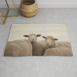 Smiling Sheep  Rug