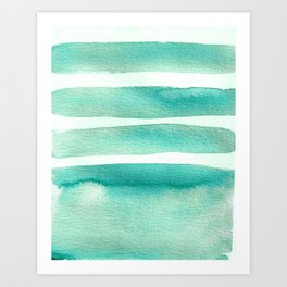 Tiffany Blue Minimalist Watercolor Art Print