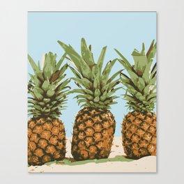 Pineapple Lineup Canvas Print