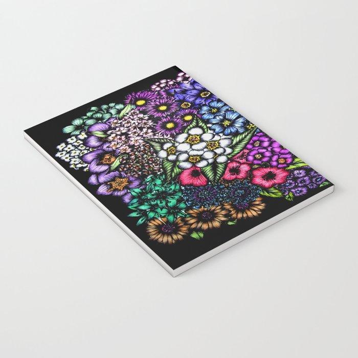 Midnight Blossoms Notebook