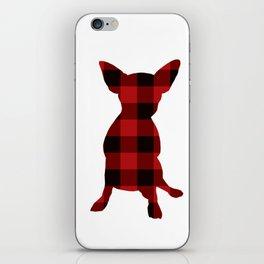 Buffalo Red Plaid Chihuahua iPhone Skin