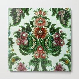 Bouquet Floral Wallpaper Metal Print