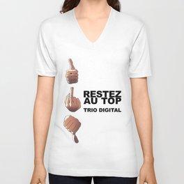 Trio Digital - Restez au top Unisex V-Neck