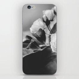 Mini Roses Black White iPhone Skin