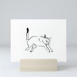 Jumping Cat Mini Art Print