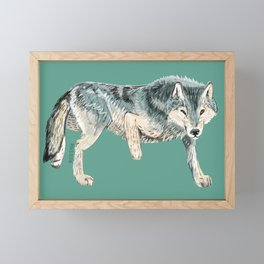 Totem Polar wolf Framed Mini Art Print