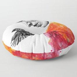Goodbye depression Floor Pillow