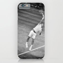 Roger Federer Black And White Wimbledon Tennis iPhone Case