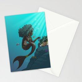 Mermaid Black Stationery Cards
