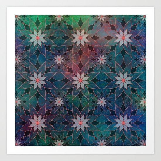 Water Lily Pattern Art Print