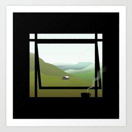 WINDOWS 005: THE HILLS Art Print