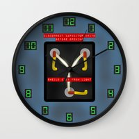 wall clock Wall Clocks featuring Flux Capacitor Wall Clock by Art of Sara