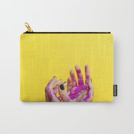 Yellow Paint Hands (Color) Carry-All Pouch