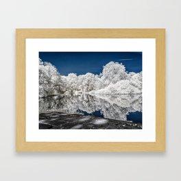 Lake Reflections - Infrared Framed Art Print