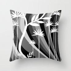 White Plants Throw Pillow