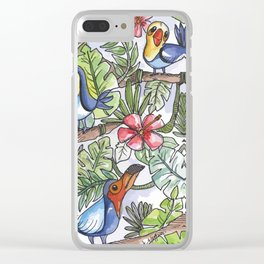 Wild Birds Clear iPhone Case