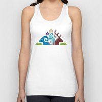 the national Tank Tops featuring National Park by Christopher Dina