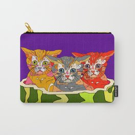 Cats in Watermelon Jacuzzi - Tropical Carry-All Pouch