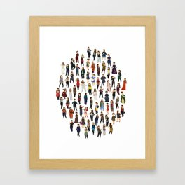 Every Clara Outfit Ever Framed Art Print