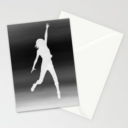 Body Movin - Touch the Sky B&W Inverse Stationery Cards