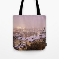 prague Tote Bags featuring Prague 3 by Veronika