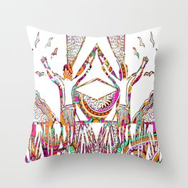 We gave our souls to the wild Throw Pillow