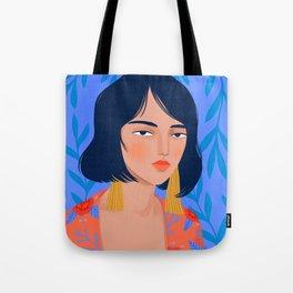 Kimono Girl Tote Bag